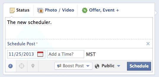 New Facebook Scheduler