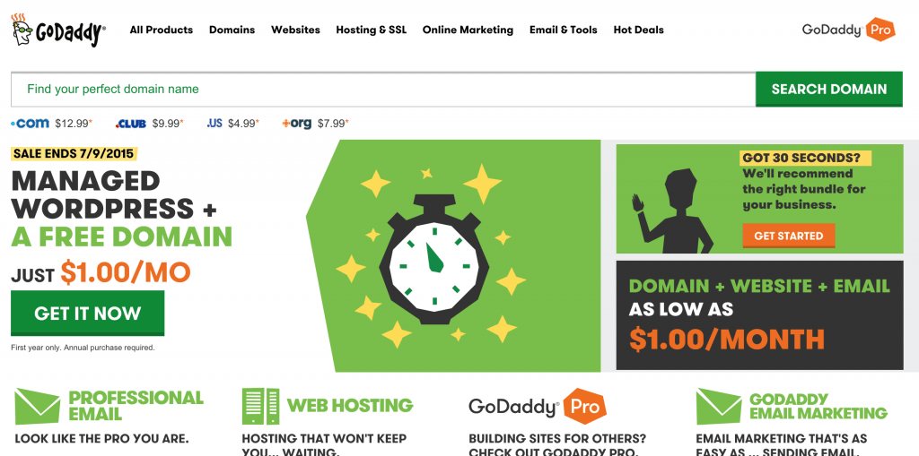 Godaddy Domain Search